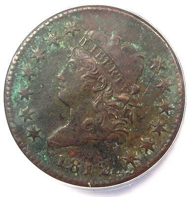 1812 Classic Liberty Large Cent 1C - ANACS XF40 Details (EF40) - Rare Date Penny