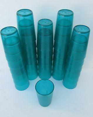 Lot of 33 Silite 2309  Blue Stackable Tumblers 9oz