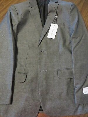 Boys Calvin Klein 14R Black Sport Coat Jacket Ret $100. Nwt