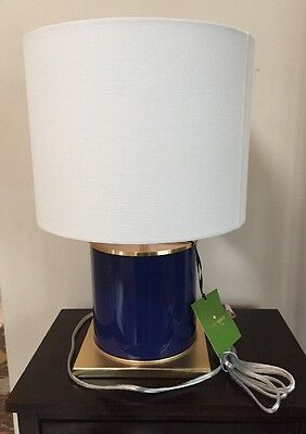 kate spade lamp home goods kate spade cobalt glass cylinder table lamp wcream shade new with tags kate spade cobalt
