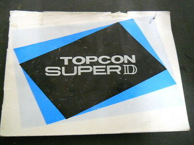 Vintage Topcon Super D Camera Instruction / Owners Manual