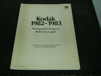 Vintage Kodak 1982-1983 Photographic Products Reference Guide (Very Rare)
