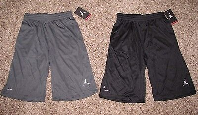 Air Jordan Jumpman Dri Fit Boys Shorts Black Or Dark Gray Small L Xl