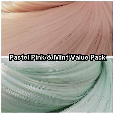 Pink & Mint Blue XL 4oz 2 Color Value Pak Nylon Doll Hair Rooting Monster High