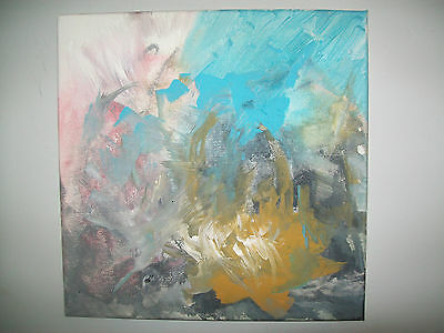 ORIGINAL 12x12 Abstract Contemporary Modern Decor signed art Canvas painting