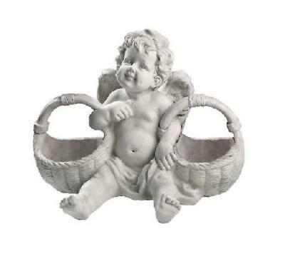 New Design Toscano 'Basket of Treats' Cherub Statue Garden Ornament
