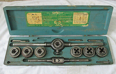 Greenfield Little Giant No. 5 Screw Plate Tap and Die Set With Case