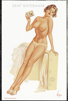 1960's Alberto Vargas Authentic Pin-Up Poster Art Print 11x17 Niagra Falls Power