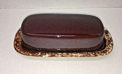 Vintage Mccoy Pottery Brown Drip Butter Dish 7013 Usa