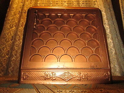 Antique Cast Iron Wall Heat Register Scalloped & Flared Victorian / Deco
