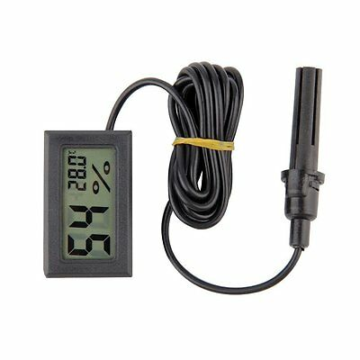 Mini Digital LCD Thermometer Hygrometer Humidity Temperature Meter Indoor CA