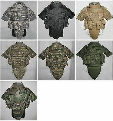 New Airsoft Tactical Molle Vest Body Armor Replica With Pouches&Pads 6 Color