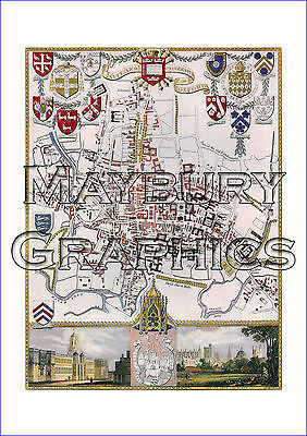 City & University of Oxford - Moule - UK County Maps - MOU-P-004 - A1 STUNNING