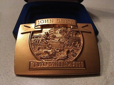 1992 John Deere Two Millionth Lawn And Grounds Car Belt Buckle