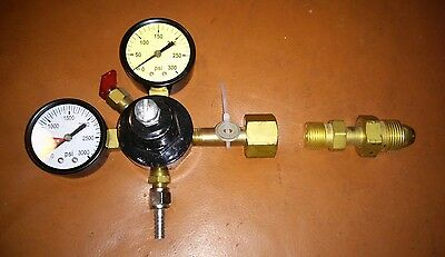 Co2/N2 Gas  Primary Regulator Soda/Beer Systems with Adapter