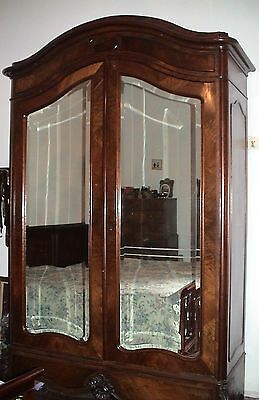 1900 French antique wardrobe with mirrors