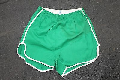 Vintage 70s Running Shorts NOS size 36-38 L Gym never been worn green