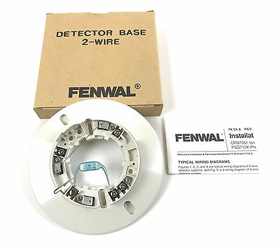 New Kidde  Fenwal Model 2-WIRE Detector Base, NOS, Quantity Available
