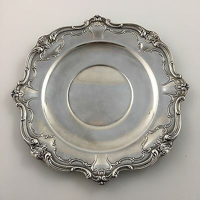 "Gorham Chantilly YC1312 Sandwich Plate 10.25"" Silver Great Condition"