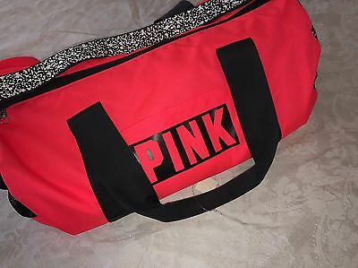 Nwt Victoria's Secret Pink Gym Duffle Travel Pink Bag