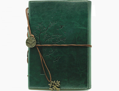 Valery Classic PU Leather Cover writing Journal lined Pages Diary Notebook, 8.54
