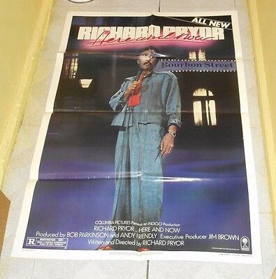 original RICHARD PRYOR HERE AND NOW one-sheet movie poster