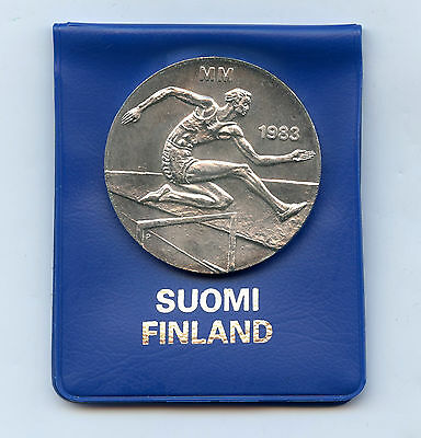 Finland 50 Markkaa 1983 Silver World Athletics Championships UNC Original Pac