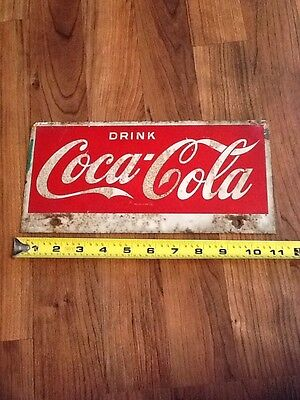 Vintage 1950's Drink COCA COLA ORIGINAL Double Sided METAL SIGN