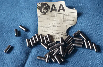 "AA Bushing, 1/16"" ID x 13/64"" OD x .1/2"" L Headless Press Fit Drill Bushing"