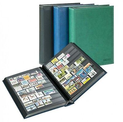 Lindner 1195-B Stockbook DIAMANT with 60 black pages, 230 x 305 mm, blue