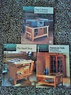 Lot of 3 Hardback Books WoodSmith Custom Woodworking Cabinets, Tool stands