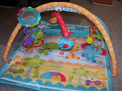 Fisher Price Infant/Toddler Portable Play Mat 3 in 1 Musical Activity Gym