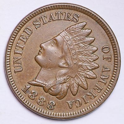 1888 Indian Head Cent Penny CHOICE AU++/UNC FREE SHIPPING E113 ANM