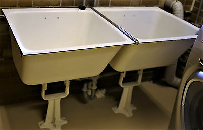 Cast Iron Porcelain 1929 Deco American Standard Laundry Sink cool single foot