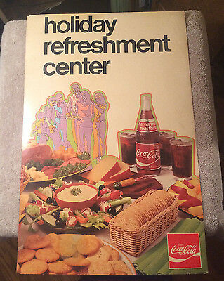 """1960/70s Coca Cola Standing Sign Great Graphics! """"It's the real thing!"""" NOS"""