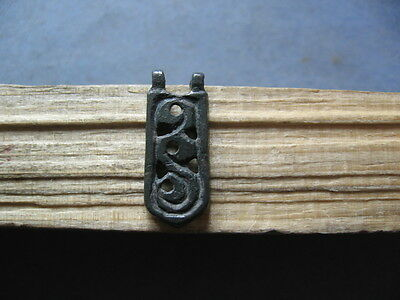 Stylized Snake Amulet Ancient Celtic Bronze Magic Talisman 400-200 B.c.