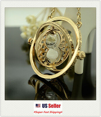 US Seller - NEW Harry Potter Time Turner Hermione Granger Rotating Necklace