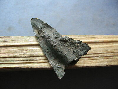 LARGE BRONZE AGE ARROWHEAD ANCIENT ILLYRIAN BRONZE WEAPON 1000-800 BC 47 mm