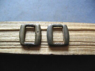 2 Pieces Of Ancient Celtic Billon Silver Belt Buckles 400-200 Bc.