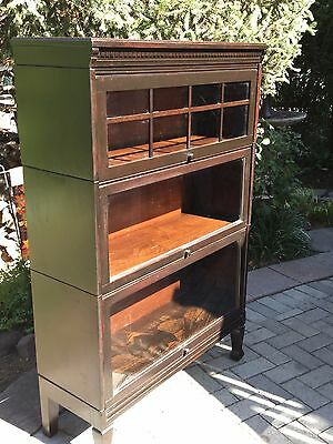 Antique Mission Style  3 stack barrister bookcase..Gunn
