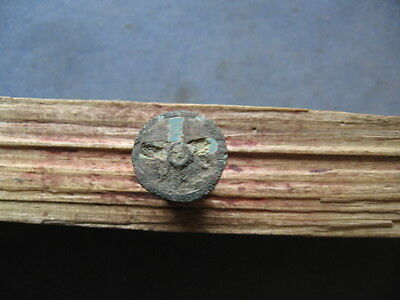 5-Pointed Star Amulet Ancient Celtic Enameled Bronze Cosmic Talisman 600-400 Bc.