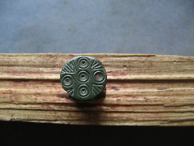 Stylized Sun With 5 Evil Eyes Amulet Ancient Celtic Bronze Talisman 600-400 B.c.