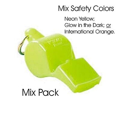 6 PACK = $2.50 per Fox 40 Pearl Whistle (90dB-pealess)- INT'L SAFETY ORANGE!