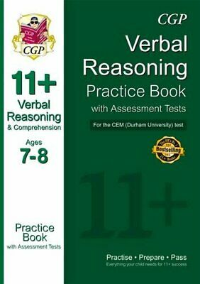 11+ Verbal Reasoning Practice Book with Assessment Tests (Ages 7... by CGP Books