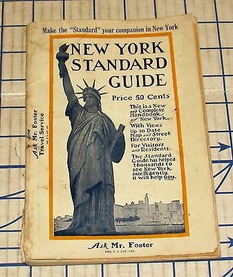 Vintage 1930 New York City Standard Guide Souvenir Book with Photos Reynolds VG
