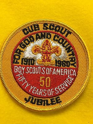 Boy Scouts-  50-years of Scouting patch - Cub Scout Jubilee