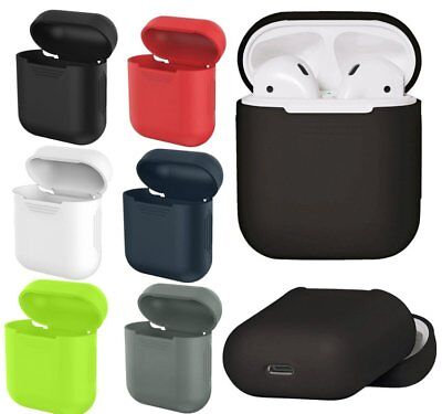 Soft Silicone Rubber Skin Cover Case Bag Sleeve For Apple AirPods Earphones