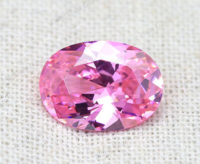 50PCS Oval Size 3*5~10*14mm 5A Pink Loose CZ Cubic Zirconia Stone Synthetic Gems