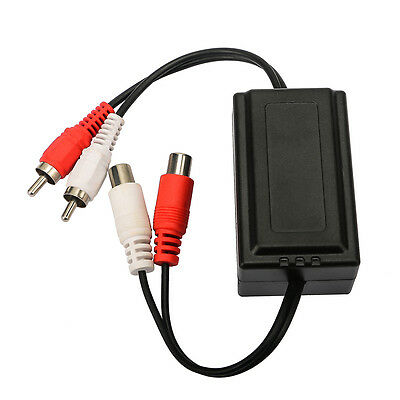 Car Audio Stereo Radio Amplifier RCA Ground Loop Isolator Supressor Noise Filter