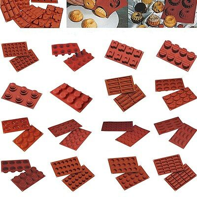 17Styles Silicone Muffin Pan Cup Cake Mold Tray Baking Mould Home Bakeware Tool